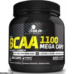 Bcaa Mega Caps 1100 (300 caps) від Olimp Labs