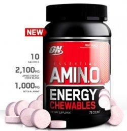 Essential Amino Energy Chewables від Optimum Nutrition 75 жувальних таблеток