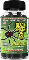 Жироспалювач Чорна Вдова (Black Spider) 25 ephedra від Cloma Pharma 100 caps