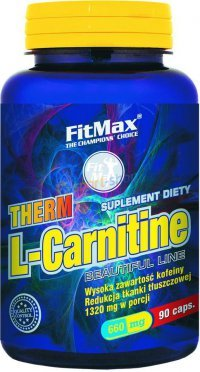 Therm L-Carnitin (600mg + 60mg caffeine) від FitMax 60 caps